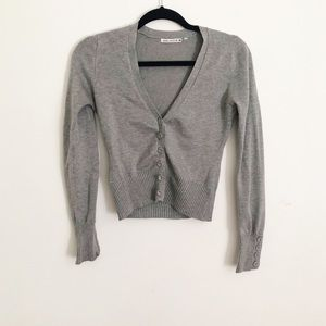 Forever 21 v neck cardigan button down ribbed S